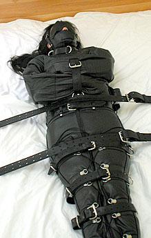 Total encasement enclosure constriction bondage pics